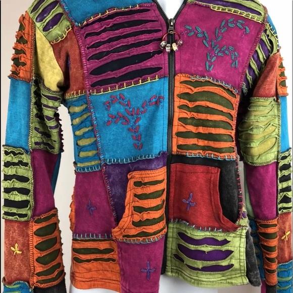 Kpc Jackets Coats Womens Small Hippie Hoodie Jacket Nepal Poshmark